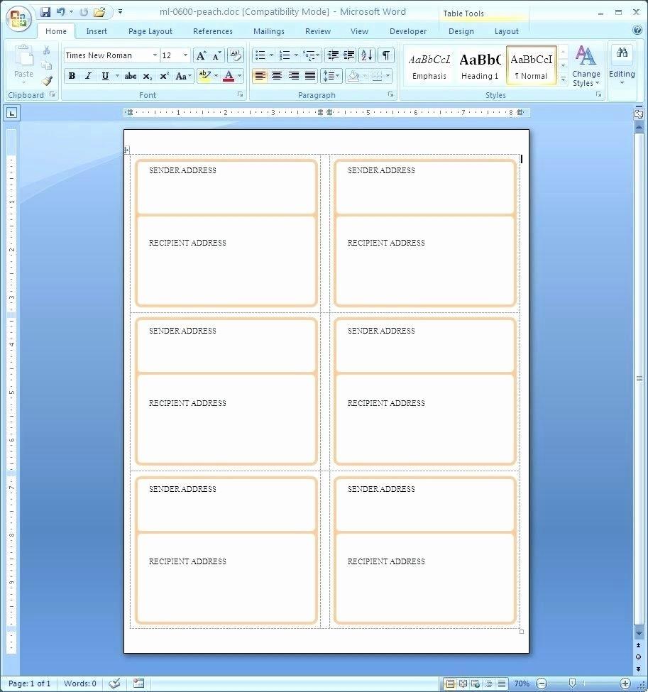 Avery Template 18660 Microsoft Word Elegant Avery Template Microsoft Word