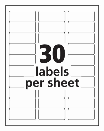 Avery Template 18660 Microsoft Word Fresh Avery Easy Peel Mailing Labels for Ink Jet Printers 1 X 2