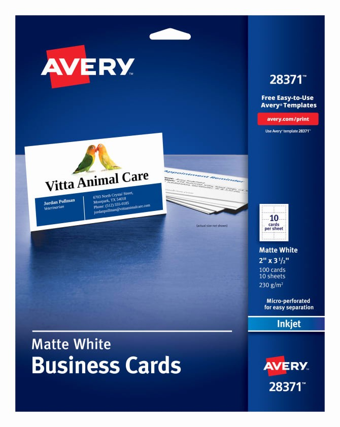 Avery Template 28371 Business Cards Inspirational Free Avery Business Card Template Templates Data