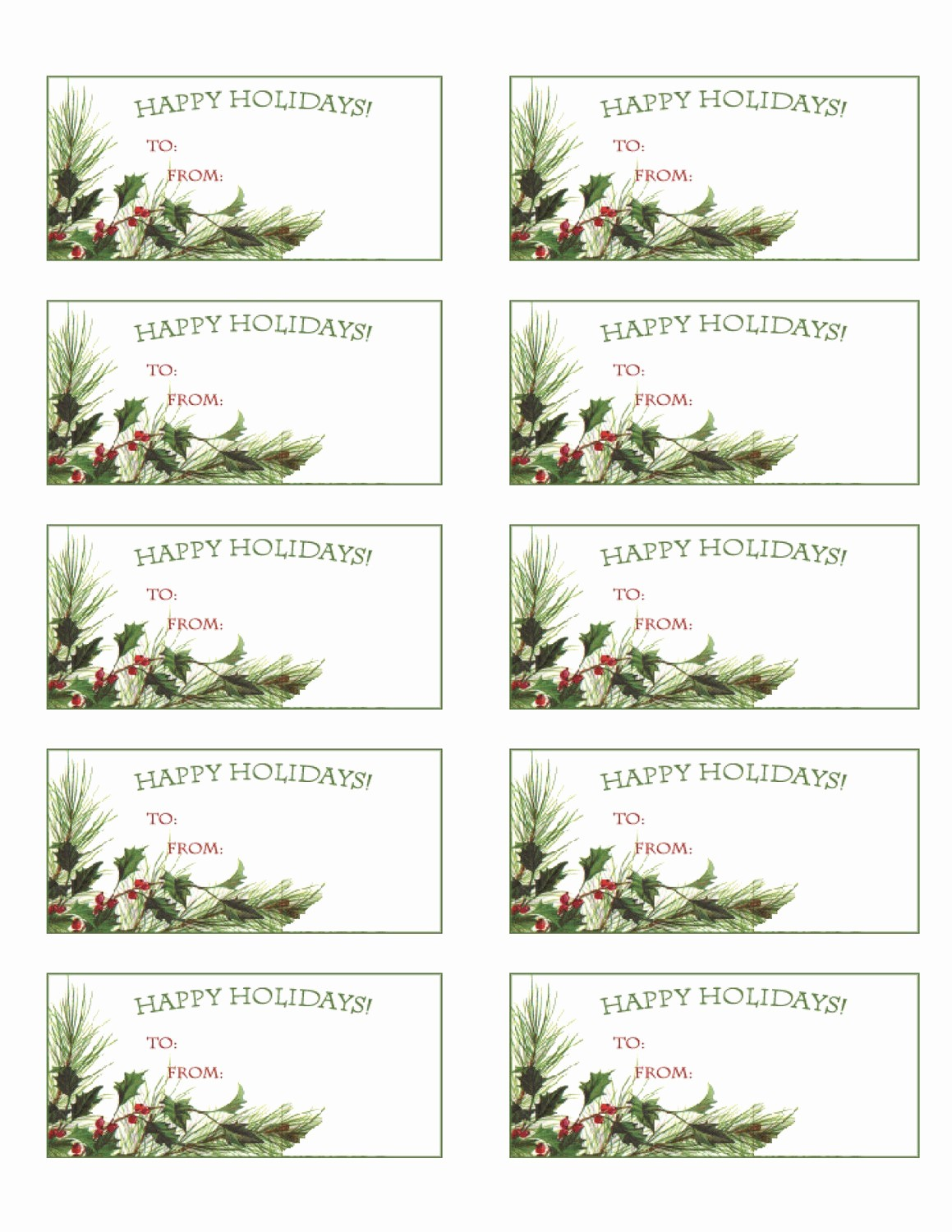 Avery Template 5263 Free Download Unique Printable Holiday T Tags Christmas Labels Party Pdf by