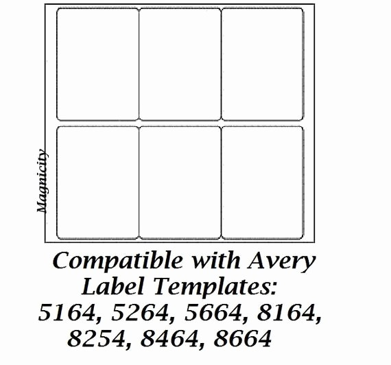 Avery Template 5264 In Word New 60 3 5 X 4 Labels 10 Sheets Shipping Labels by