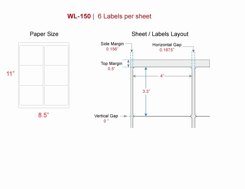 Avery Template 8164 for Word New Shipping Labels Our Wl 150 Same Size Avery 5164 8164