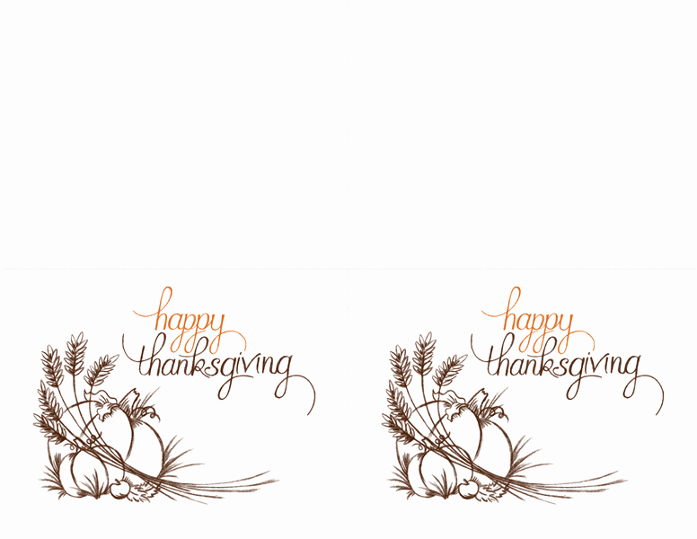 Avery Template 8315 Note Cards Elegant Thanksgiving Invitations 2 Per Page for Avery 3268