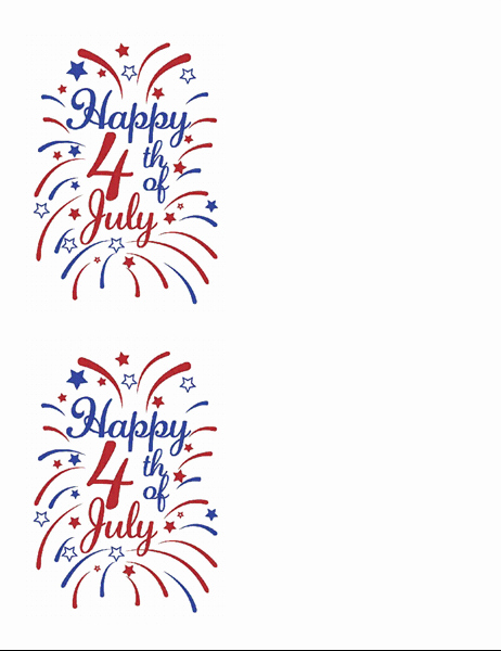 Avery Template 8315 Note Cards Fresh 4th Of July Greeting Cards 2 Per Page