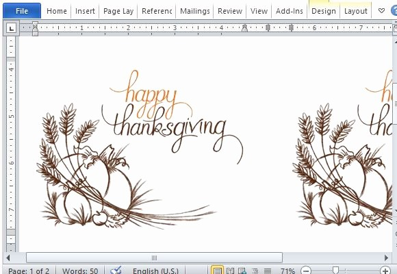 Avery Template 8315 Note Cards Fresh Best Thanksgiving Templates for Microsoft Word