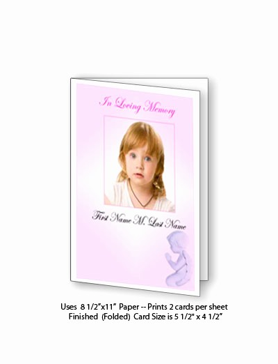 Avery Template 8315 Note Cards Inspirational Funeral Program Layouts