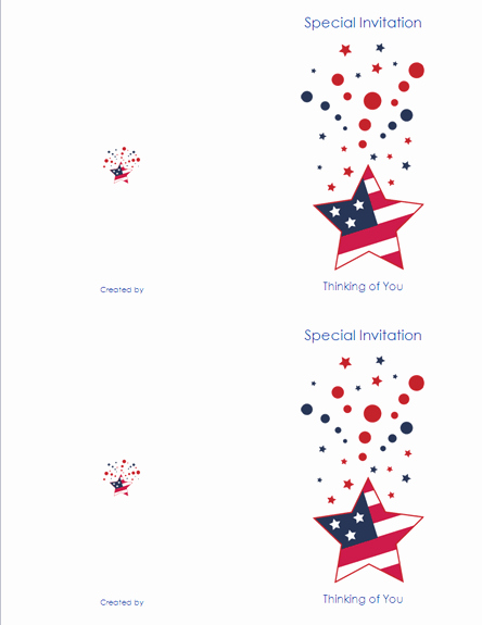 Avery Template 8315 Note Cards Lovely Download Free Printable Invitations Of 4th Of July Note