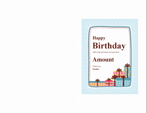 Avery Template 8315 Note Cards Luxury Birthday Fice