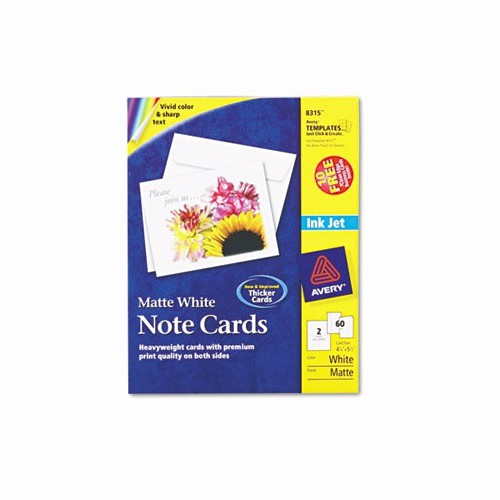 Avery Template 8315 Note Cards New Avery Note Cards for Inkjet Printers