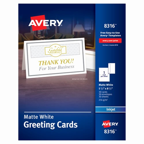 Avery Template 8315 Note Cards New Bettymills Avery Half Fold Greeting Cards with Envelopes