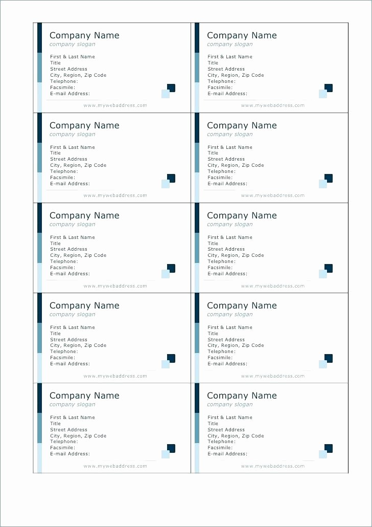 Avery Template 8871 for Word Best Of Template Business Card Template Blank Avery 8871