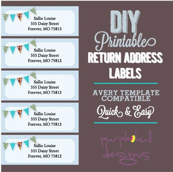 Avery Template Return Address Labels Inspirational Pennant Banner Bunting Return Address Labels Avery Template
