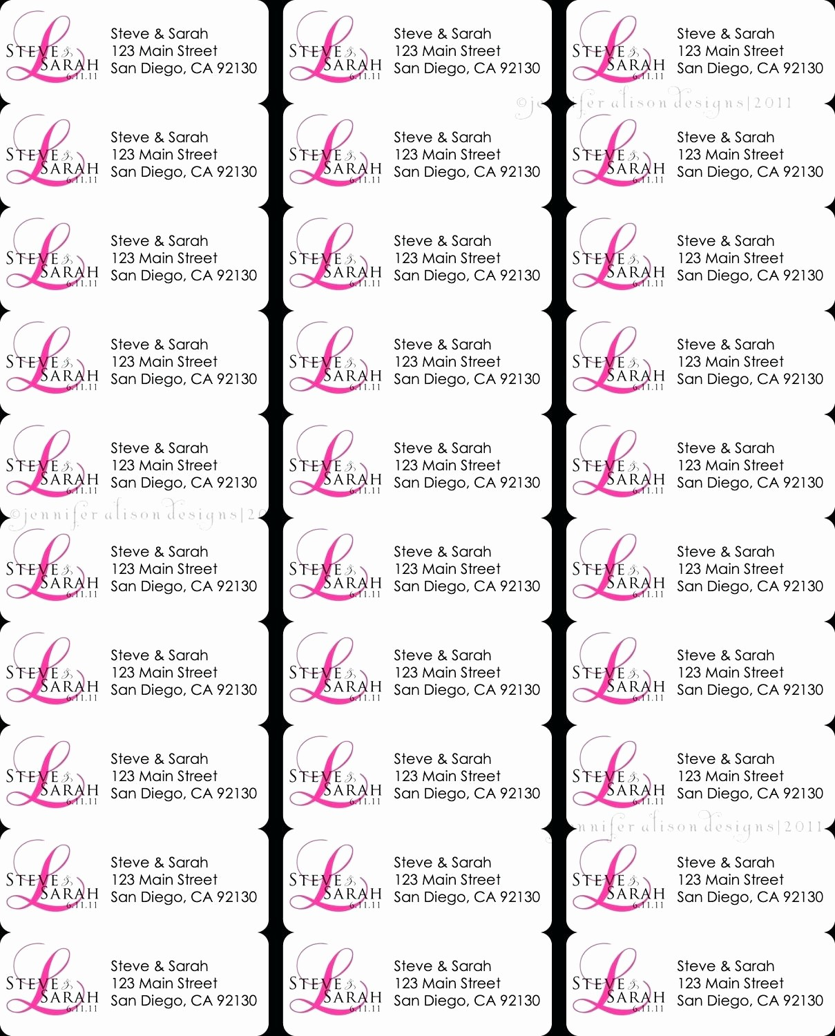 Avery Template Return Address Labels Luxury 8160 Avery Template