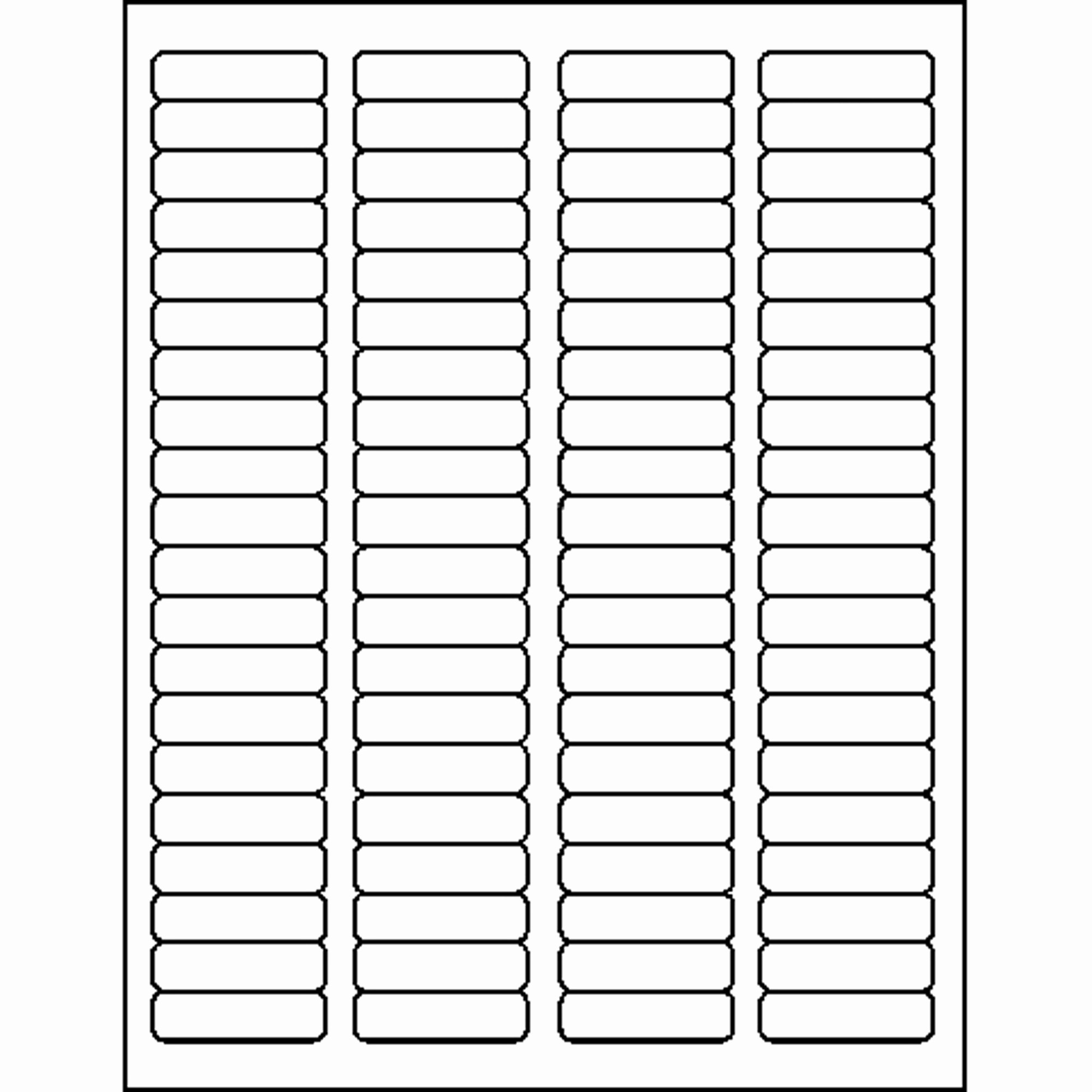 Avery Template Return Address Labels New 4000 Laser Inkjet White 80 Up Return Address Label Pare