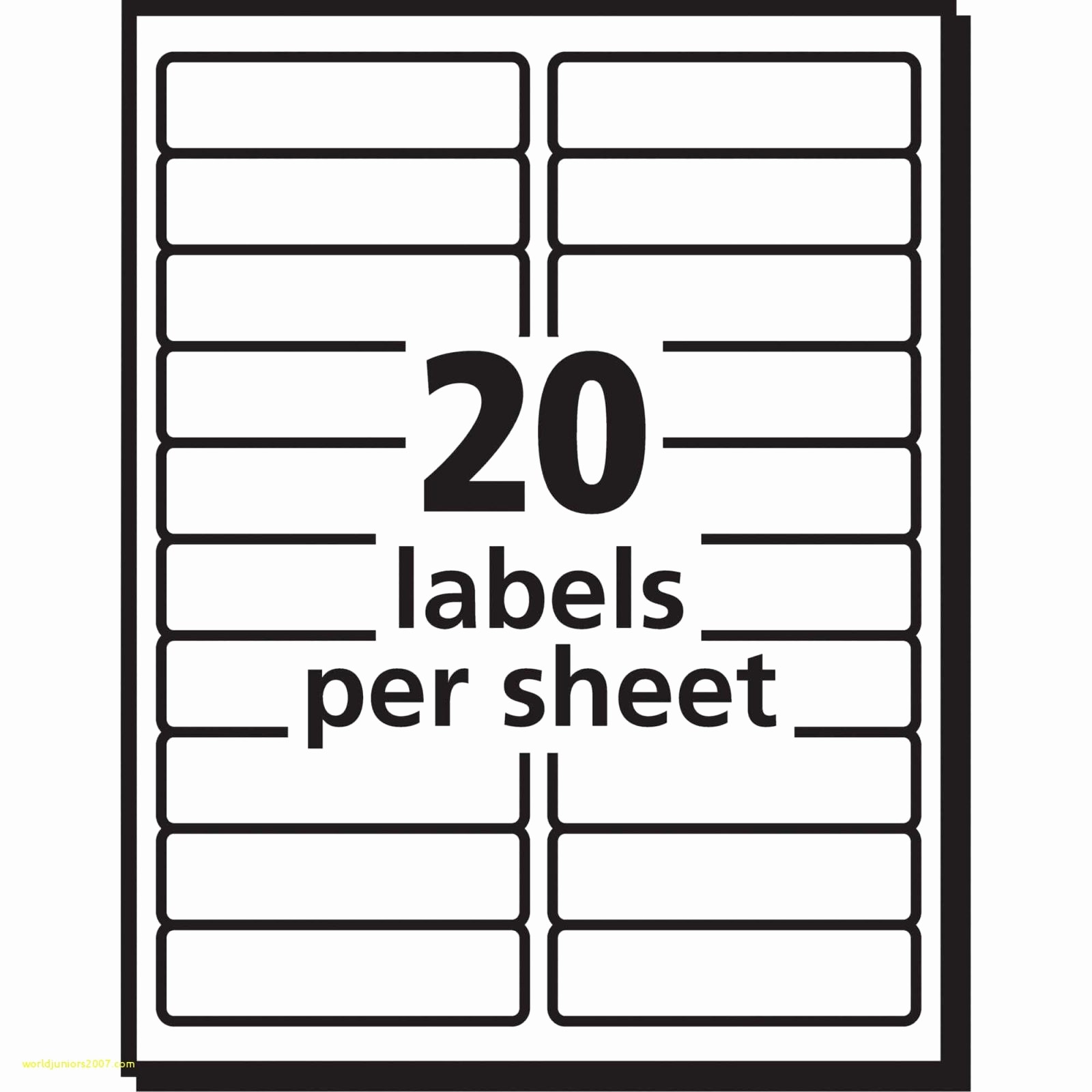 Avery Template Return Address Labels Unique Labels Per Sheet Template Excel Avery Xerox Address
