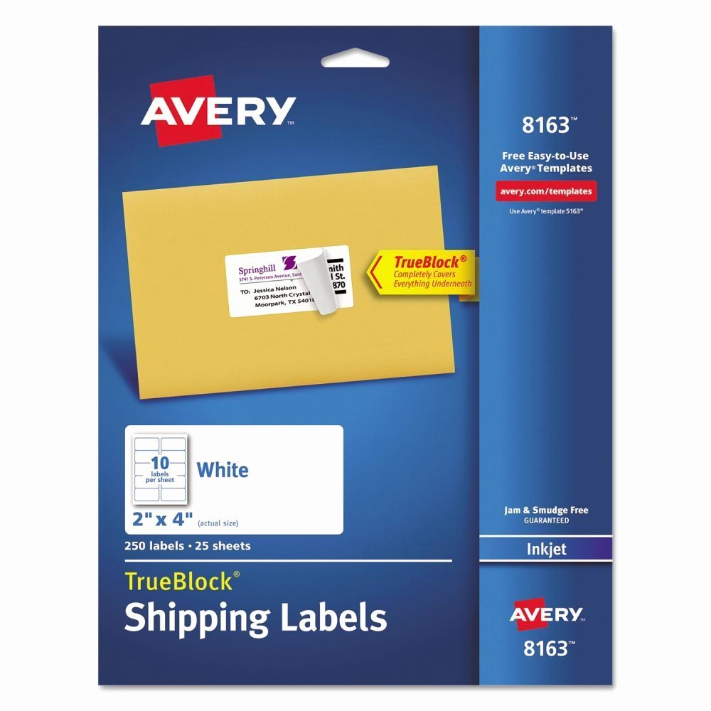 Avery Templates 8163 Microsoft Word Lovely Avery Shipping Labels Ave8163