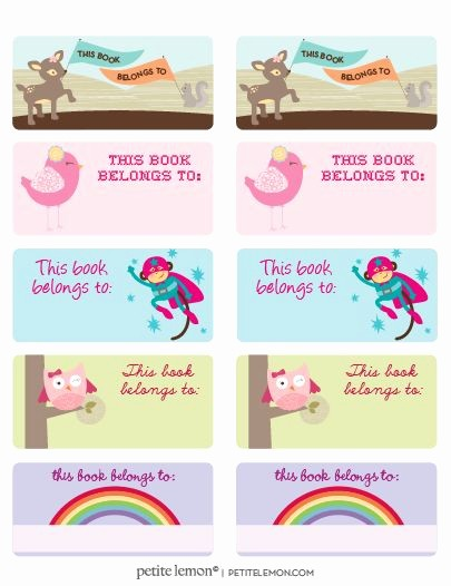 Avery Templates 8163 to Download New Printed for the Kids Books On Avery Labels Template 8163