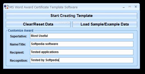 Award Certificate Template Microsoft Word Awesome Download Ms Word Award Certificate Template software 7 0