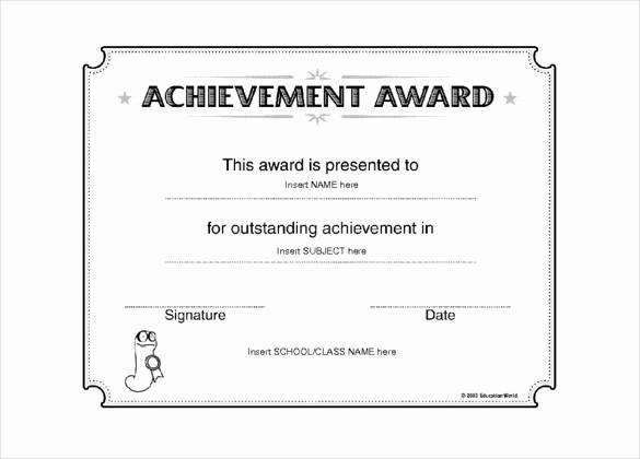 Award Certificate Template Microsoft Word Beautiful 6 Award Templates Doc Pdf