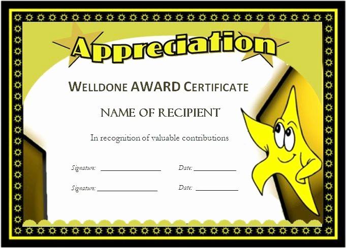 Award Certificate Template Microsoft Word Elegant Award Templates for Students