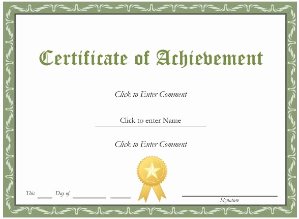 Award Certificate Template Microsoft Word Fresh Inspiring General Award and Certificate Template Word
