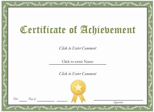Award Certificate Template Microsoft Word Fresh Inspiring General Award and Certificate Template Word