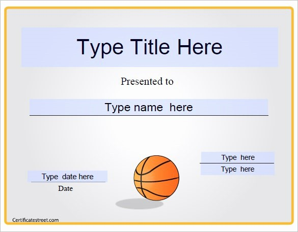 Award Certificate Template Microsoft Word New Basketball Award Templates Microsoft Word Kezofo