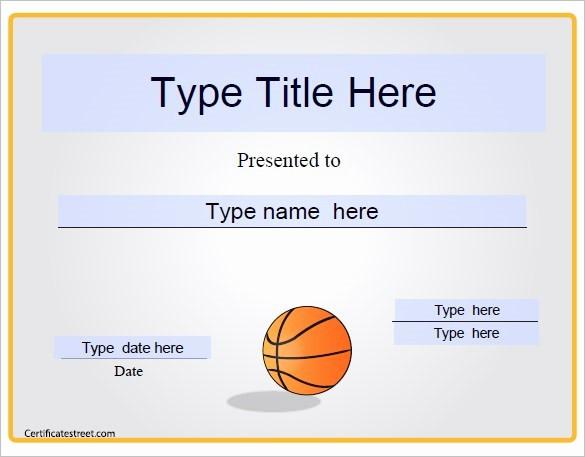 Award Certificate Template Microsoft Word New Basketball Award Templates Microsoft Word Kezofo