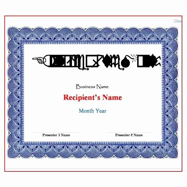 Award Certificate Template Microsoft Word Unique Microsoft Word Award Certificate Template