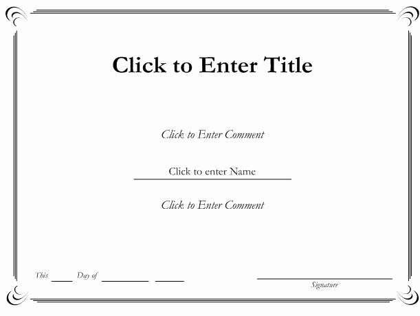 Award Certificate Template Microsoft Word Unique Ms Word Printable Certificate Templates