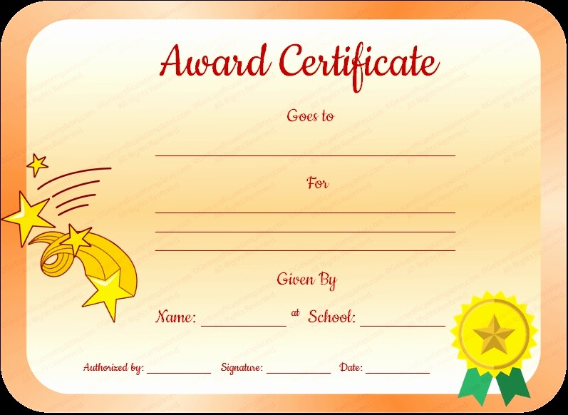 Award Certificates for Elementary Students Awesome 21 Free Printable Award Certificates for Elementary Students