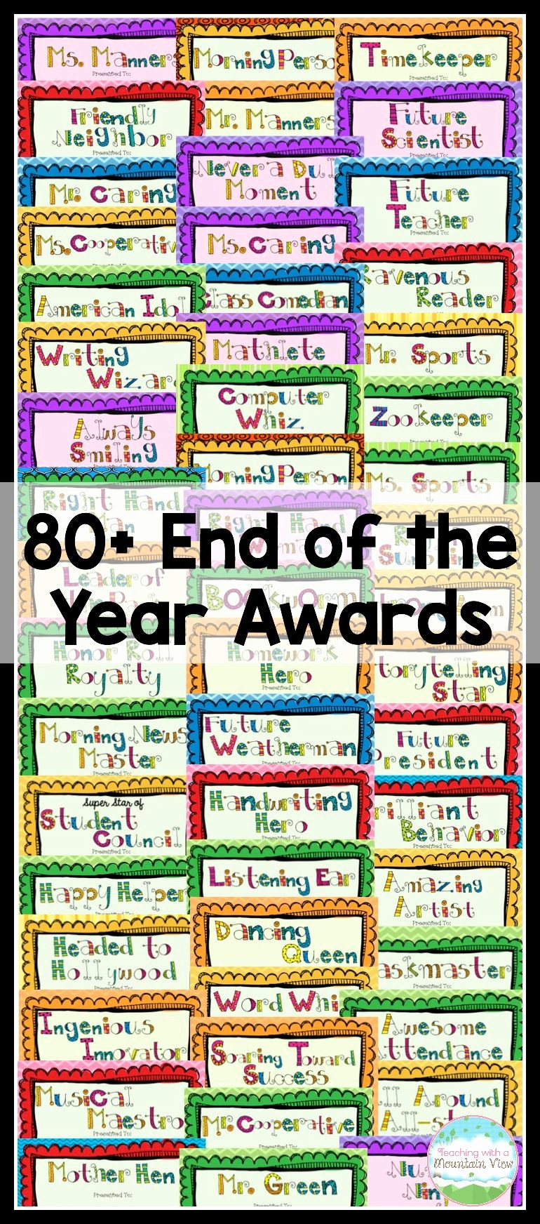 Award Certificates for Elementary Students Awesome End Of the Year Awards
