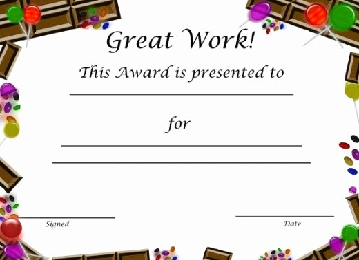 Award Certificates for Elementary Students Beautiful 10 Certificates for Kids
