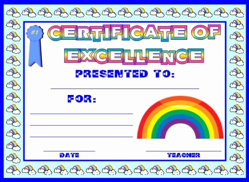 Award Certificates for Elementary Students Beautiful Achievement Award Certificates