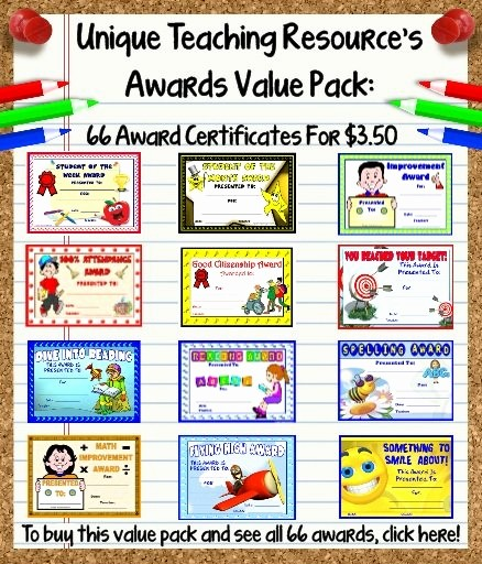 Award Certificates for Elementary Students Beautiful Awards and Certificates for Students