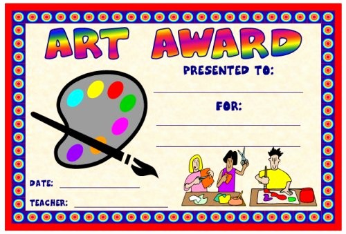 Award Certificates for Elementary Students Best Of Art and Music Award Certificates