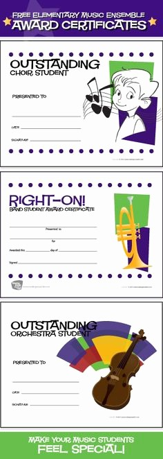 Award Certificates for Elementary Students Fresh 1000 Images About Music Award Certificates On Pinterest