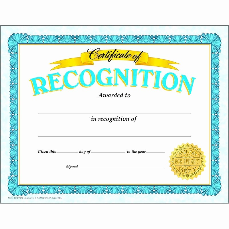 Award Certificates for Elementary Students Inspirational Certificate Of Recognition Classic