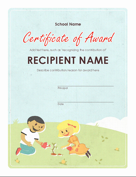 Award Certificates for Elementary Students Luxury Certificates Fice