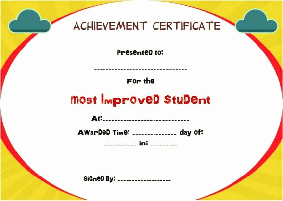 Award Certificates for Elementary Students Luxury Character Awards for Elementary Students Most Improved