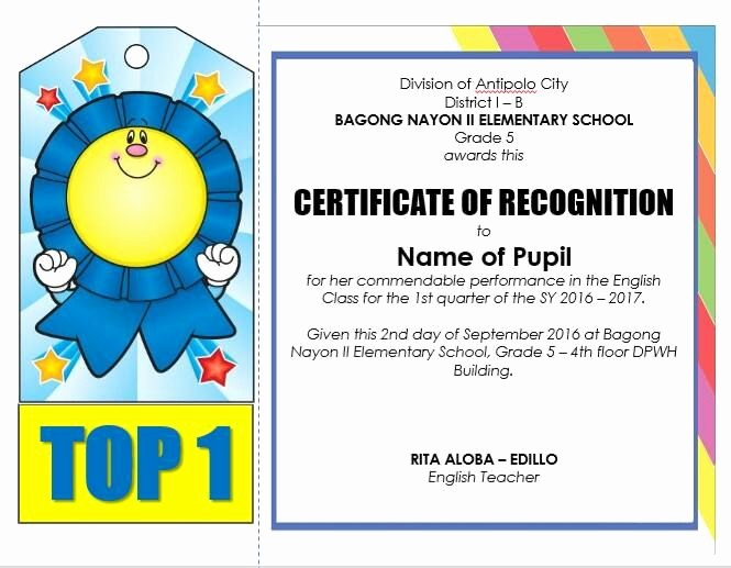 Award Certificates for Elementary Students Luxury Editable Quarterly Awards Certificate Template