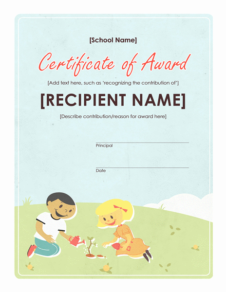 Award Certificates for Elementary Students Luxury Student Award Templates Search Results