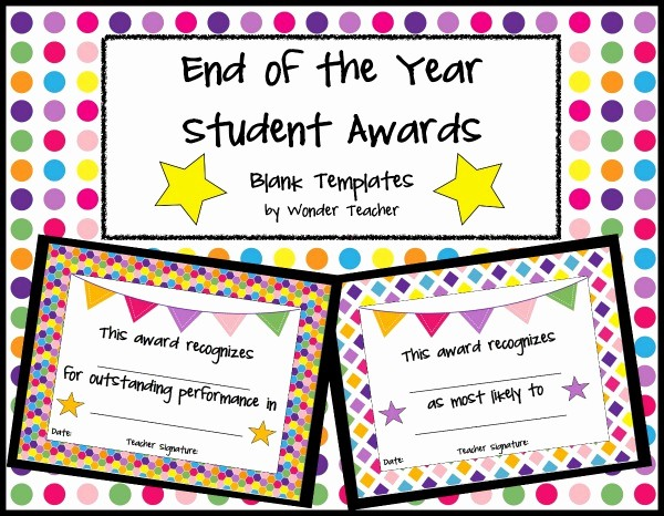 Award Certificates for Elementary Students Unique End Of the Year