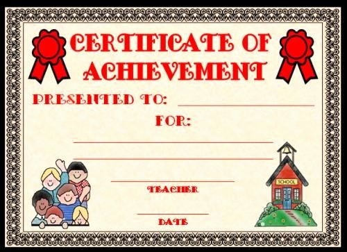 Award Certificates for Elementary Students Unique Templates Clipart Student Achievement Pencil and In