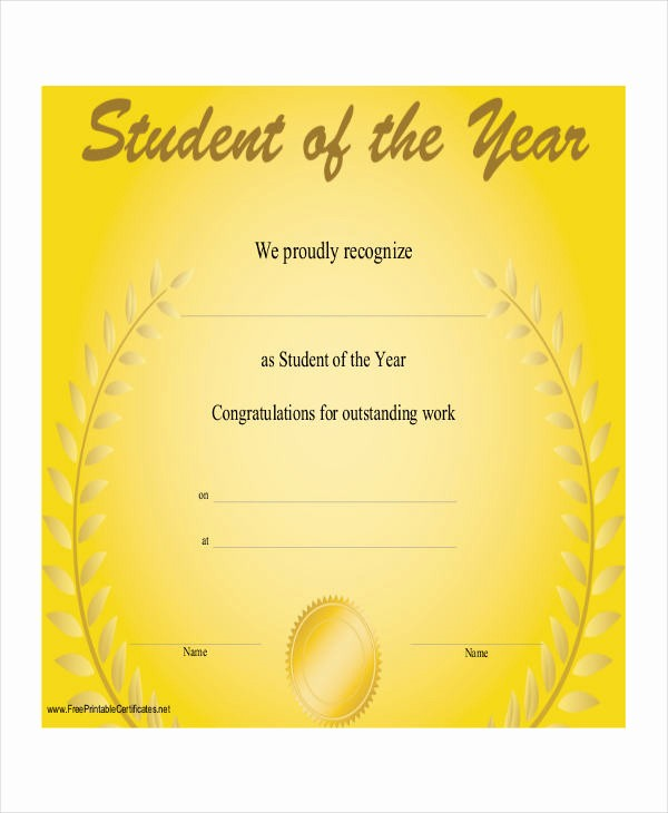 Award Certificates for Students Free Awesome 27 Award Certificate Examples & Samples
