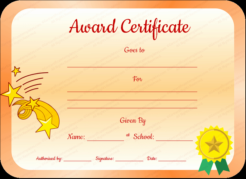 Award Certificates for Students Free Awesome Core Value Award Certificate Template for Students