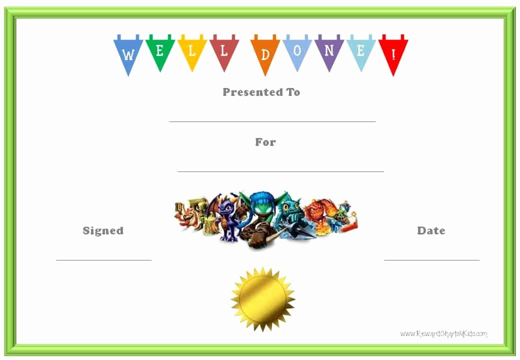 Award Certificates for Students Free Beautiful Skylanders Behavior Charts and Certificates