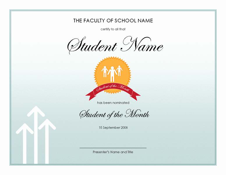 Award Certificates for Students Free Inspirational Student Award Templates