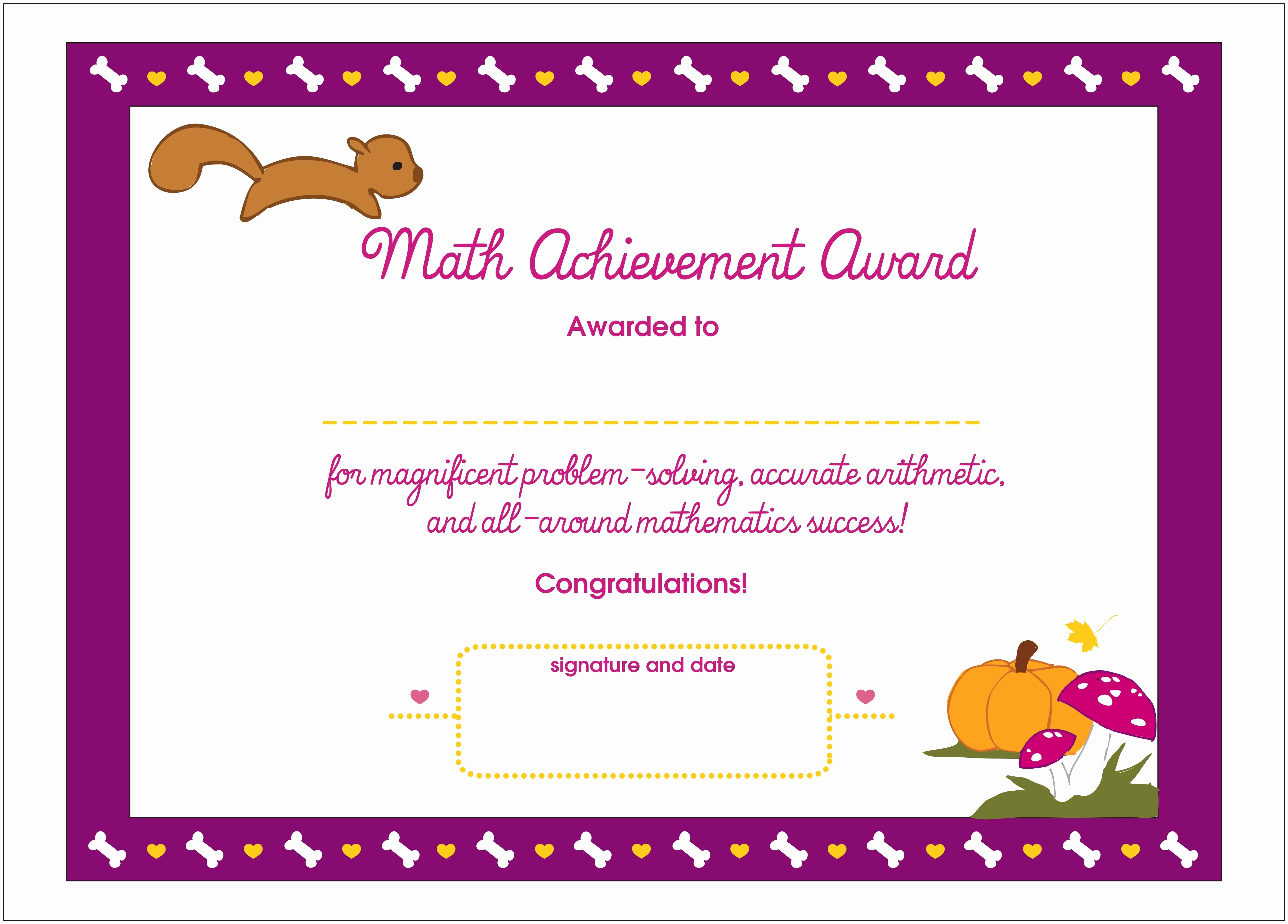 Award Certificates for Students Free Luxury Certificate Achievement for Kids