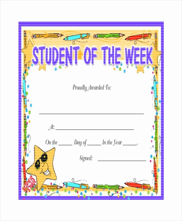 Awards and Certificates for Students Awesome 24 Sample Printable Certificate Templates Free Sample